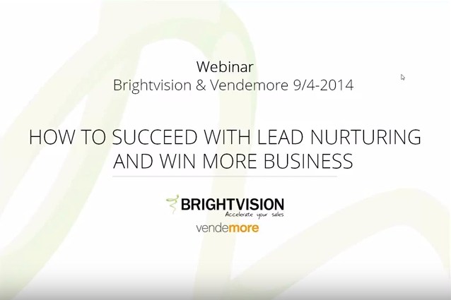 Succeed with lead nurturing